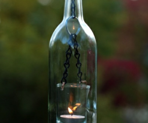 bottle, candle, and diy image