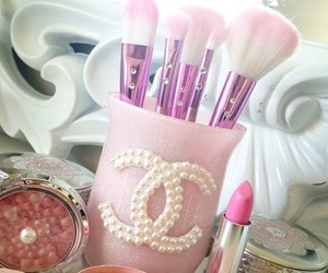 Brushes, chanel, and pink image
