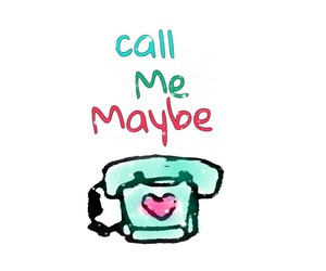 lovely, call me maybe, and phone image
