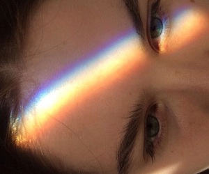 eyes, rainbow, and grunge image
