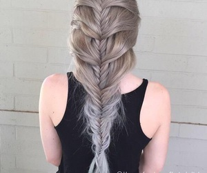 braid, hair, and girl image