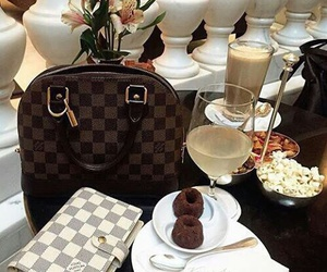 cakes, chocholate, and Louis Vuitton image