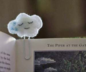 clouds, book, and cute image