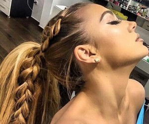 earrings, hair, and hairstyle image