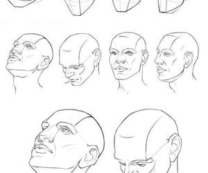 drawing and face image