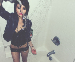 girl, water, and shower image
