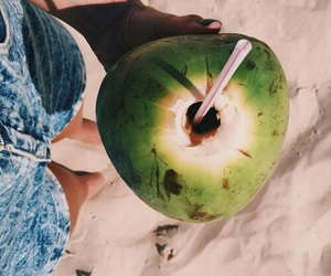 beach, coco, and drink image