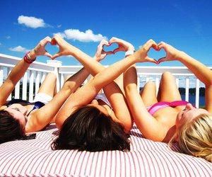 summer, friends, and heart image