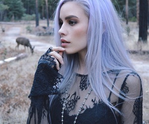 purple, girl, and hair image