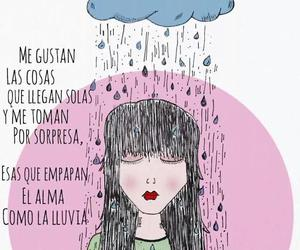 love, frases, and lluvia image