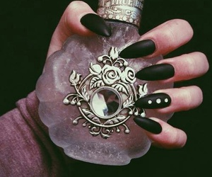 nails, black, and perfume image
