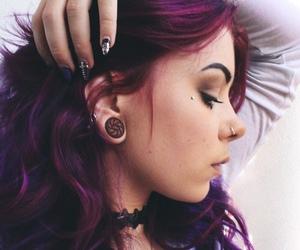 hair, nails, and piercing image