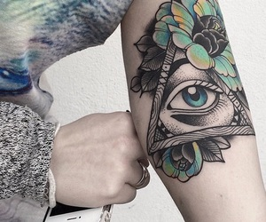 tattoo and eyes image