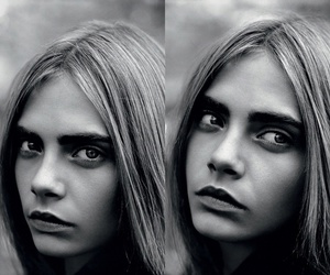black and white, eyebrows, and hair image