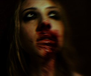 Marilyn Manson, blood, and girl image