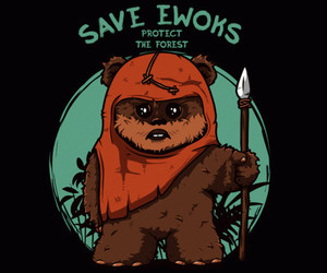 animals, ewoks, and forest image