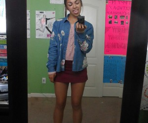 clothes, girl, and mirror image