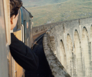 train, boy, and travel image