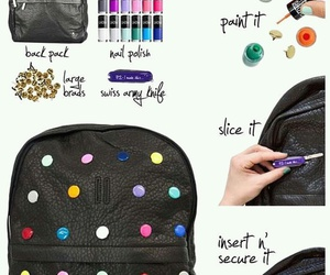 diy, backpack, and tutorial image