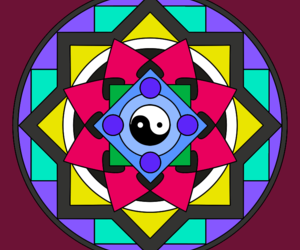 mandala, wallpapers, and ying yang image