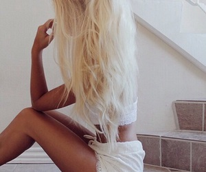 adorable, blonde, and blonde hair image