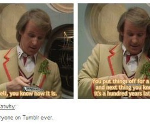 doctor who, fifth doctor, and peter davidson image