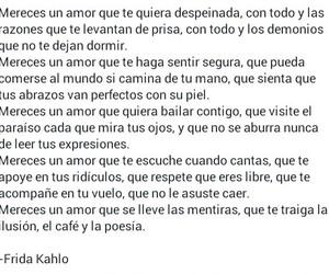 frida kahlo, inspiracion, and frases de amor image