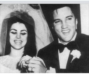 60s, Elvis Presley, and wedding image