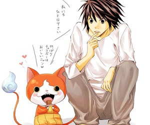anime, deathnote, and L image