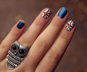 blue, fingers, and nail art image