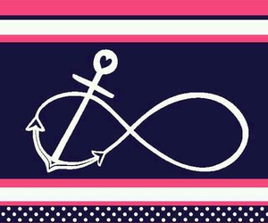 anchor, infinity, and pink image