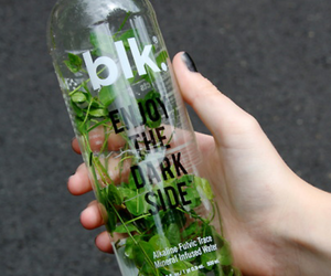 blk, water, and bottle image