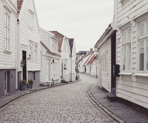 white, house, and street image