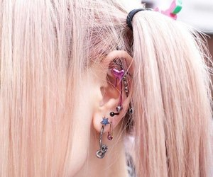 piercing, girl, and kawaii image