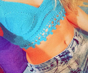 abs, blonde, and blue image