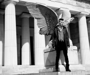 boy, fashion, and wings image