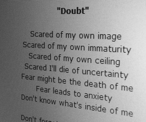 doubt, fear, and quote image