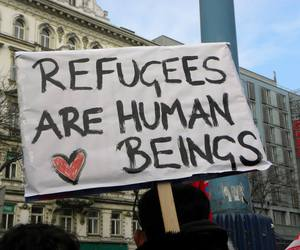peace, quotes, and refugees image