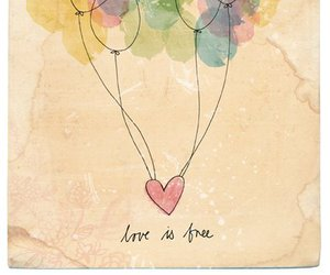 love, free, and balloons image