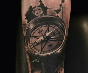 compass tattoo and phil garcia image