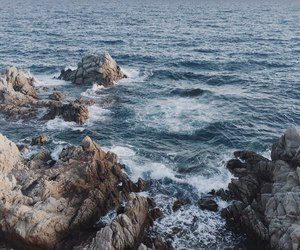 blue, sea, and love image