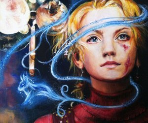 harry potter, luna lovegood, and magic image
