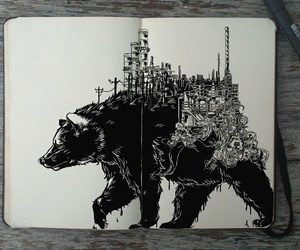 bear, art, and draw image
