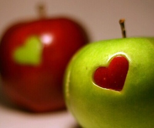 apple, love, and red image