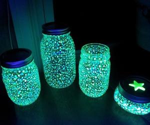 diy, light, and jar image