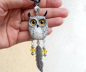 birds, owl, and owl pendant image