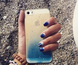 beach, blue, and blue nails image