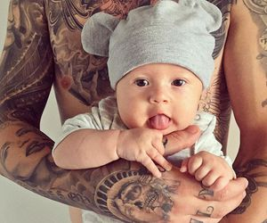 baby and tattoo image