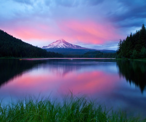 mountains, nature, and sunset image