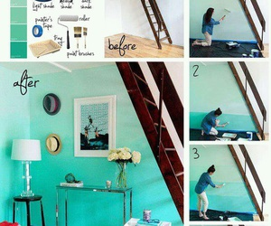 diy, wall, and blue image